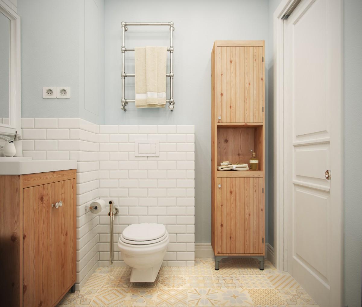 туалет в стиле сканди